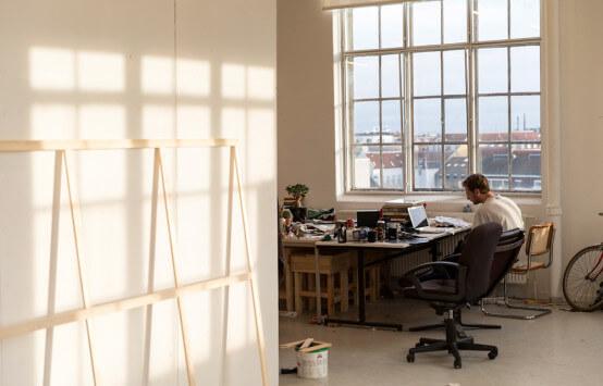 Funen Art Academy studio space